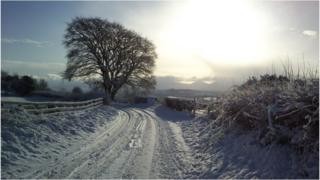January: Sunshine and snow on the hills around Rathfriland Picture: James Frazer