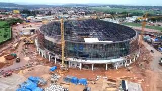 Ikibuga cya Kigali Arena kiri kubakwa