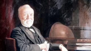 Andrew Carnegie en su estudio