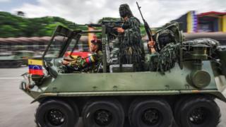 Tanqueta militar venezolana.
