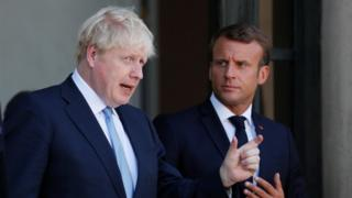 Boris Johnson and Emmanuel Macron