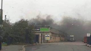 Fire at Kilnhurst