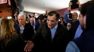 U.S. Republican presidential candidate Ted Cruz (R-TX) is joined by governor Mike Pence (R-IN) at a campaign event at The Mill in Marion, Indiana, U.S.,