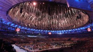 A cerimônia de abertura dos Jogos Olímpicos do Rio