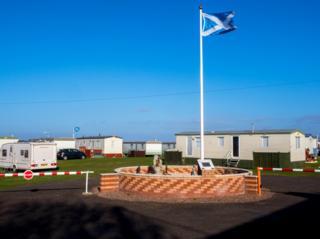 Thorntonloch Caravan Park. Dunbar.