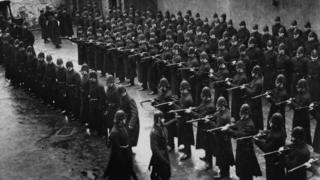 The Royal Irish Constabulary under inspection in 1913