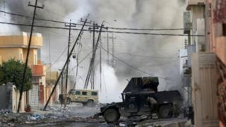 استهدف تفجير انتحاري شنه مسلحو تنظيم الدولة الإسلامية القوات العراقية الخاصة