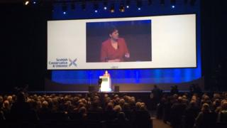Ruth Davidson at the 2017 conference