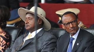 Yoweri Museveni et Paul Kagamé