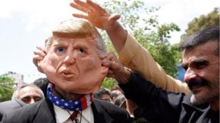 Muri Irani hakunze kuba imyigaragambyo yo kwamagana Amerika na Perezida Donald Trump