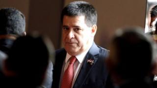 Paraguay's President Horacio Cartes 31 March, 2017.