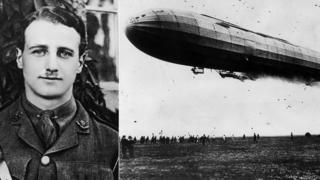 William Leefe Robinson and an airship