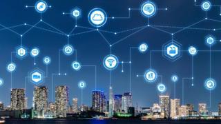 Una ciudad moderna conectada a internet