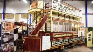 The restored tram car