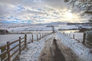 Snow in the Pentlands