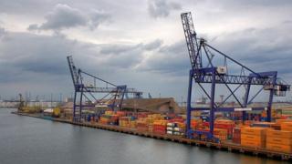Cranes at Teesport