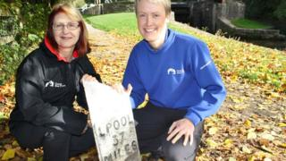 Chantelle Seaborn (left) and Bicentenary Project Manager Sarah Knight