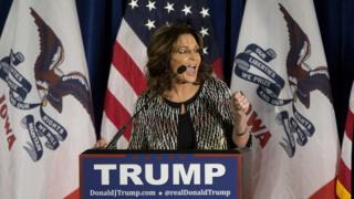 Sarah Palin announces her endorsement of Donald Trump
