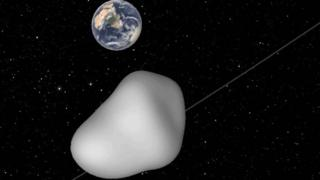 Illustration of asteroid 2012 TC4