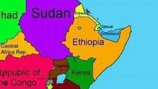 Map-ka ay Itoobiya daabacday