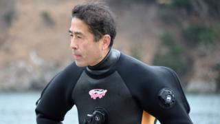 Yasuo Takamatsu training for his diving licence in March 2014 (Photo: Getty Images)