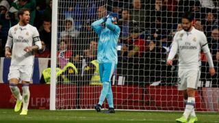 Navas sabe que un error suyo propició el gol del Betis.