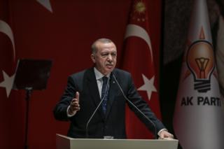 أردوغان ألقى خطابا في أنقرة