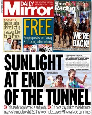 The Daily Mirror front page 30 May