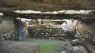 تم اكتشاف الساونا قبل الإسباني في مدينة مكسيكو