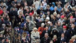 Демонстрация во время инаугурации Трампа
