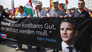Höcke supporters at AfD rally in Berlin, 27 May 18
