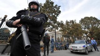 Полицейский в Бишкеке