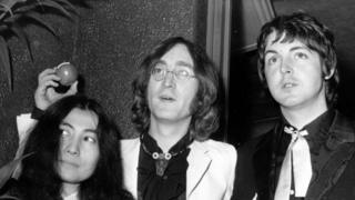 Yoko Ono, John Lennon and Paul McCartney