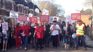 Winchester protests