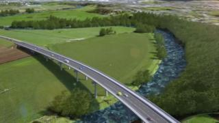 Artists impression of how the road could look