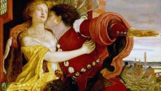Romeo y Julieta, pintados por Ford Maddox Brown (1821-1893)