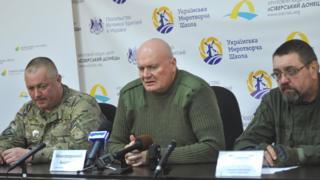 """Командир батальона """"Донбасс"""" Анатолий Виногородский (в центре)"""