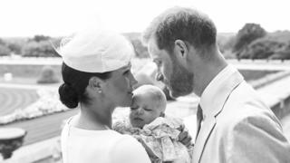 The Duke and Duchess of Sussex with Archie Mountbatten-Windsor