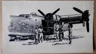 Air crew in Italy, 1944