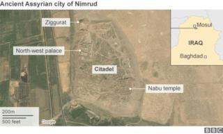 Khariidad muujinaysa halka magaalada Nimrud dalka kaga taal