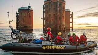 Greenpeace protest