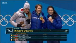 Jacqueline Loelling, Lizzy Yarnold na Laura Deas