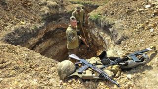 Українські військові у зоні АТО