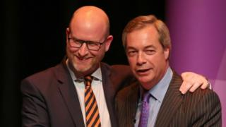 Paul Nuttall and Nigel Farage in February