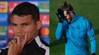 Thiago Sylva (PSG) et Gareth Bale (Real) ne devrait pas démarrer le choc des 8è de finale de la C1.