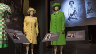 "Outfits worn by Queen Elizabeth II including the coat and hat worn at the Service of Thanksgiving for her 90th birthday celebration at St Paul""s Cathedral in 2016"