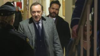 Spacey leaving court