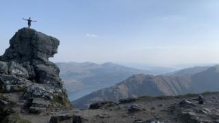 Gavin Morris took this photo at the summit of The Cobbler