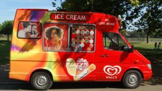 A generic ice cream van
