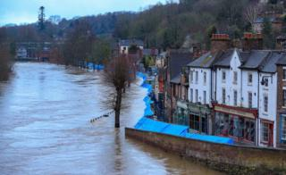 in_pictures Flooding in Ironbridge, Shropshire